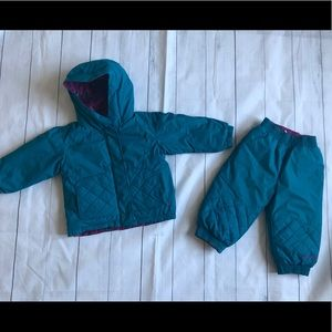 Baby girl 24 month winter jacket and snow pants